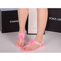 Летняя Сандалии Chanel цветок сандалии розовый силикон 20407 Китай