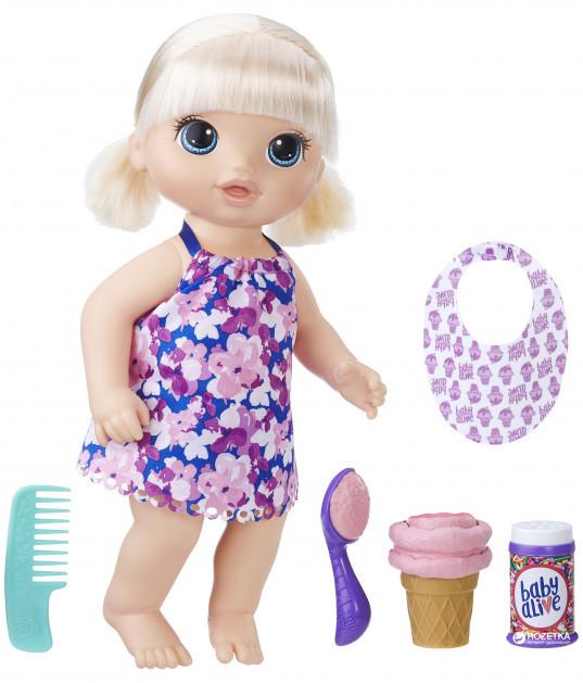 Hasbro BABY ALIVE Kукла Беби Элайв Малышка с мороженым