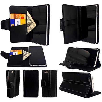 Чехол-книжка с силиконовым бампером и кармашками для Nokia 6.1 Black, фото 2