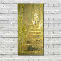 Свет Петро Бевза Декорация стен Настенный декор Абстрактная картина Девушка на картине Желтая картина
