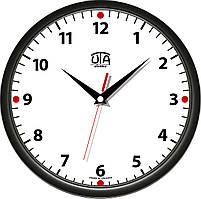 Часы настенные UTA Сlassic 300 х300 х 45 мм с чёрным ободом