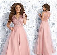 Женское вечернее длинное платье,платья выпускные,платья вечерние цвет розовый.