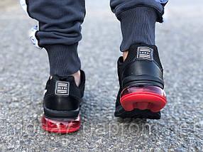 Мужские кроссовки реплика Nike Air Max черные/красные, фото 3