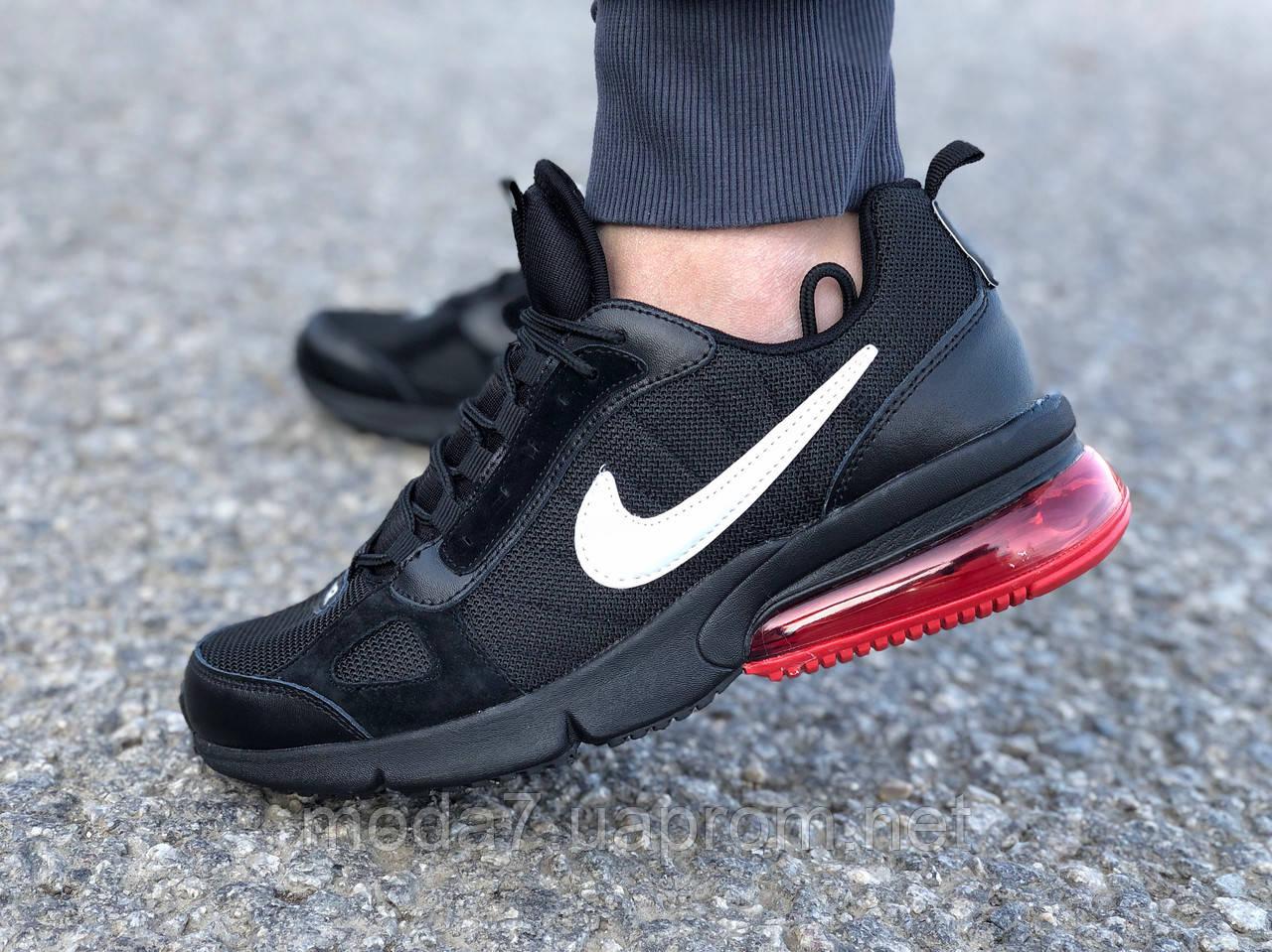 Мужские кроссовки реплика Nike Air Max черные/красные