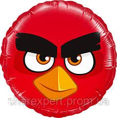 Шар (18''/46 см) Круг, Angry Birds, Красный, 1 шт.