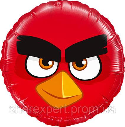Шар (18''/46 см) Круг, Angry Birds, Красный, 1 шт., фото 2