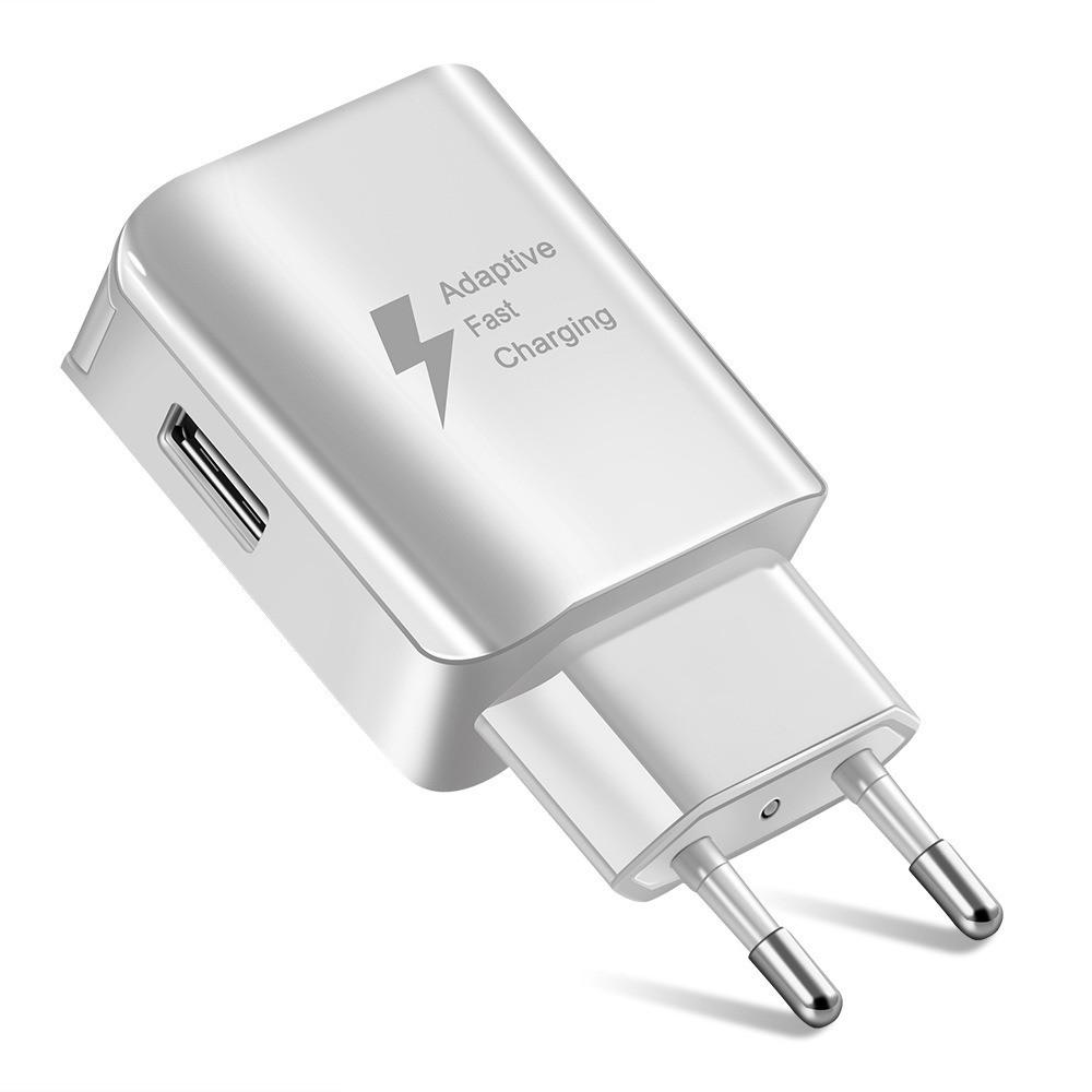 Сетевой адаптер Samsung D5 Quick Charge 2.0 1 USB Port 2A (Реальные 2А) Белый