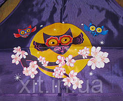 Детские фартушки с нарукавниками Совы фиолетовый