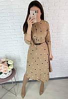 Платье женское в горох 452 - 42,44,46,48