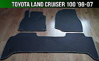 ЕВА коврики на Toyota Land Cruiser 100 '98-07. Ковры EVA Тойота Хайлюкс Ленд Крузер 100