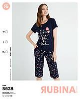 Женская пижама с бриджами, Rubina Secret, Турция, синяя