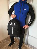 Спортивный костюм мужской Under Armour x blue / осенний весенний ТОП качество