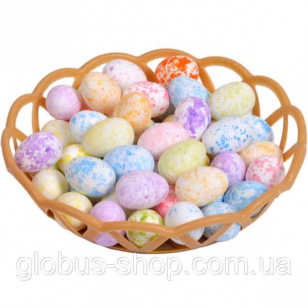 Яйцо маленькоес корзиночкой  2,8х2см набор 50  шт