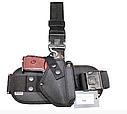 Кобура съемная набедренная черная, чехла под запасной магазин для пистолета ПМ, фото 4