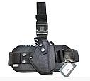 Кобура съемная набедренная черная, чехла под запасной магазин для пистолета ПМ, фото 3