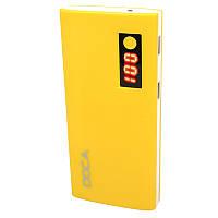 Внешнее зарядное устройство Power Bank DOCA D566II с LED дисплеем (13000mAh), желтый