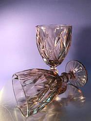 Набор 6 бокалов для вина из цветного розового стекла Bailey Muse 300 мл
