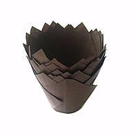 Тарталетки бумажные тюльпан коричневые (20 шт/уп)