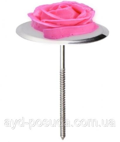 Підставка-цвях для виготовлення кремових квітів (діаметр 7 см) арт. 840-2243