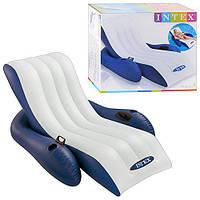 Шезлонг - кресло надувное с ручками Intex