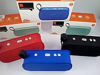 ✅Мобильная колонка мини спикер блютуз акустика беспроводная MP3 плеер SPS JBL M168 Синий
