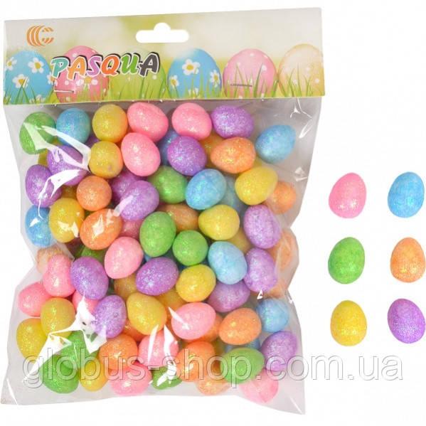 Яйцо маленькое с блестками 2,5 х1,8 см цвет салатовоый