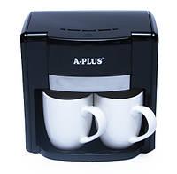 Кофеварка капельная A-PLUS кофемашина 500 Ватт + 2 чашки 150 мл (1549)