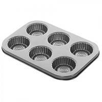 Формы для выпечки кексов Stenson MH-0412 с антипригарным покрытием, 26*1.5*см, формы для выпечки, посуда, мета