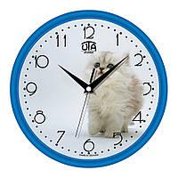 Часы настенные UTA Сlassic 300 х 300 х 45 мм с синим ободом