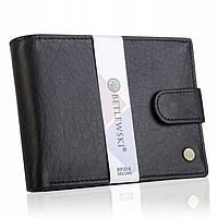 Чоловічий шкіряний гаманець Betlewski з RFID 9,5 х 12,5 х 2,5 (BPM-BH-60) - чорний, фото 1