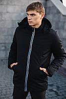 Мужская демисезонная куртка парка Intruder'Spart' черная размер S 46 M 48 L 50 XL 52 XXL 54