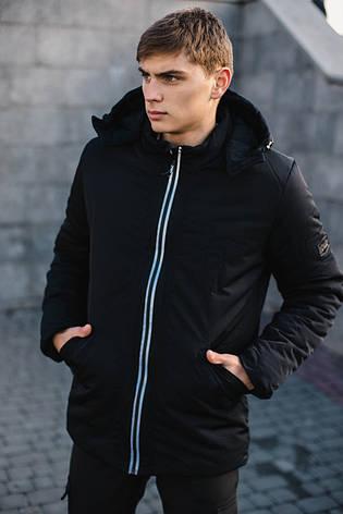 Мужская демисезонная куртка парка Intruder Spart черная, фото 2