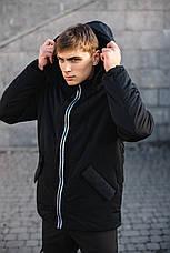 Мужская демисезонная куртка парка Intruder Spart черная, фото 3