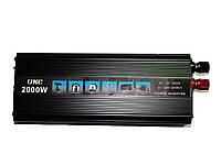 Инвертор автомобильный преобразователь напряжения UKC 12V-220V 2000W