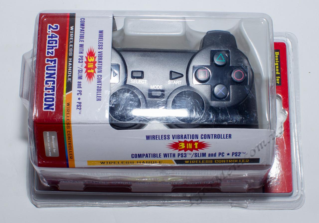 Джойстик беспроводной для Sony PlayStation 2/ 3/ PC (BOX)