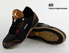 Кроссовки кожаные детские коричневые Nike JORDAN (реплика) кросівки дитячі коричневі