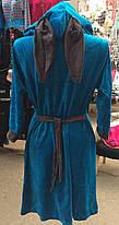 Женский велюровый халат Зайка с ушками, фото 3