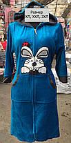 Женский велюровый халат Зайка с ушками, фото 2
