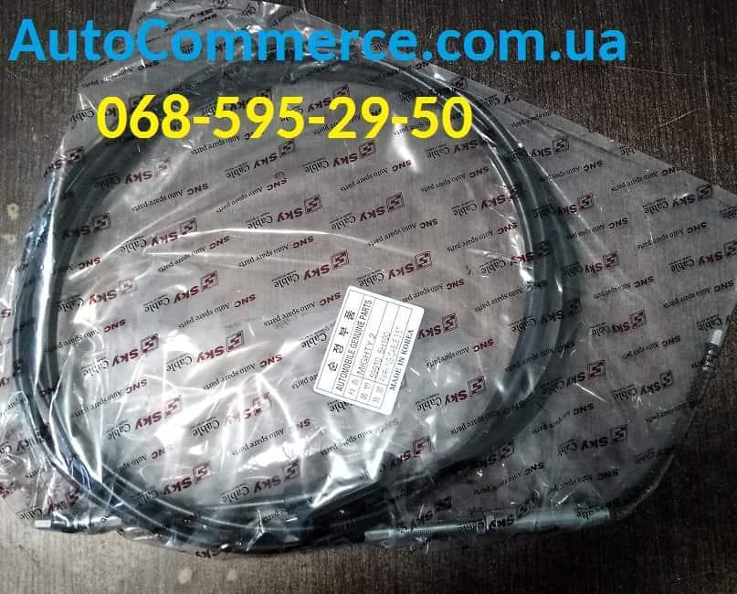 Трос тормоза стояночного ручника Hyundai HD78/HD72 Хюндай hd (599105H100) 3.9L