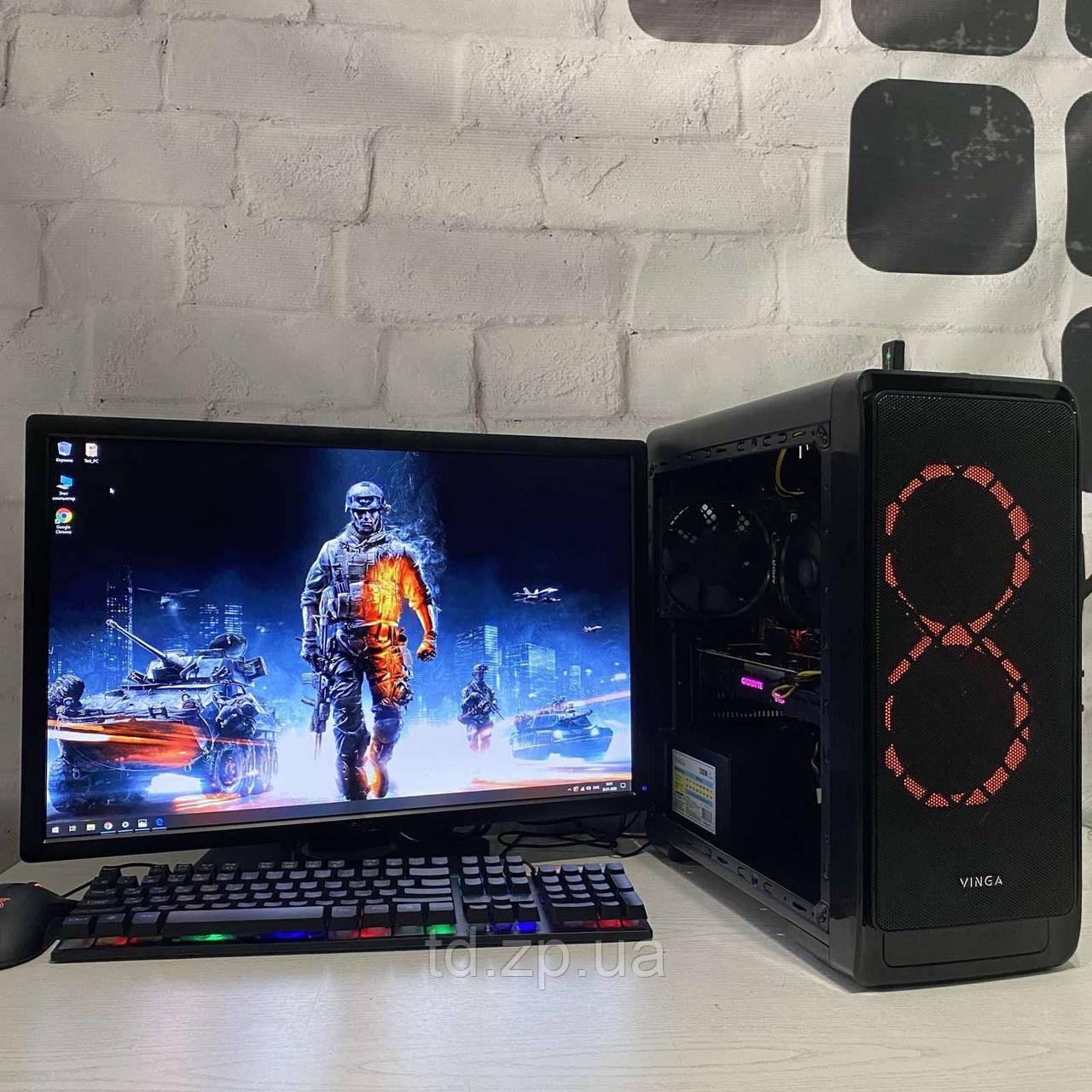 Игровой компьютер Intel Core i3-9100f + NVIDIA GTX 1060 3Gb + RAM 16Gb + HDD 1000Gb