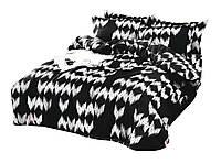 Комплект постельного белья Сатин Dalwin 141 M&M 5328 Белый, Черный