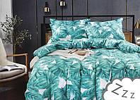 Комплект постельного белья Сатин Dalwin 162 M&M 2647 Белый, Синий