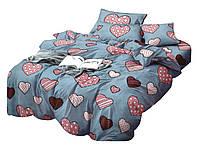 Комплект постельного белья Сатин Dalwin 140 M&M 2654 Серый, Синий, Красный