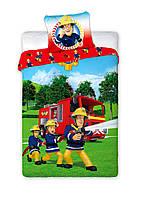 Комплект постельного белья NR 1387 Пожарный Сэм M&M 8825 Зеленый, Синий, Красный