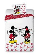 Комплект постельного белья NR 1409 Микки Маус M&M 7262 Белый, Черный, Красный