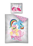Комплект постельного белья NR 1414 My Little Pony M&M 7251 Кремовый, Синий, Розовый