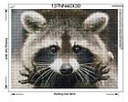 Алмазна вишивка єнотік 30х40 см, повна викладка, квадратні стрази, фото 2
