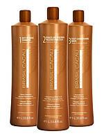 CADIVEU Brasil Cacau Набор для кератинового выпрямления волос 3х500 мл (разлив)
