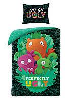 Комплект постельного белья NR 1432 Ugly Dolls M&M 4653 Черный, Зеленый