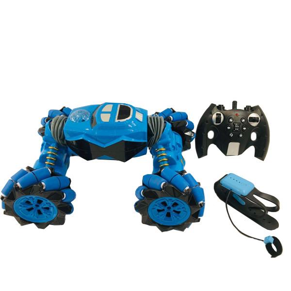 Машинка на радиоуправлении музыкальная Gesture Control Smart Deformation Blue